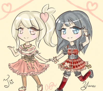 Gift: Imouto-Thi and Yu-Dollie by iHappyx3