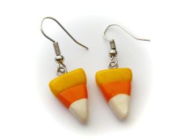 Candy Corn Earrings by PumpkinDream