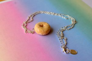 Sugar Doughnut Necklace by ChloeeeeLynnee97