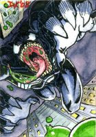 Venom Leaping Sketch Card by DKuang