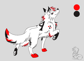 Ace Card Wolf Adoptable {Closed} by TwoSilverWings