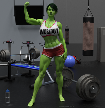 She Hulk - A girl and her toys by shulkophile