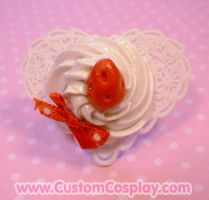 White lace sweet heart ring by The-Cute-Storm