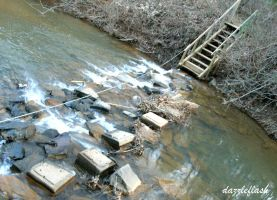 Creek and Stairs by dazzleflash
