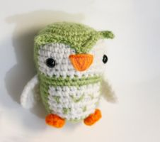 Green Owl by tinyowlknits