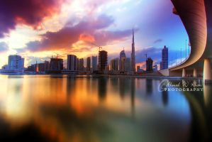 Dubai Sunset by ahmedwkhan