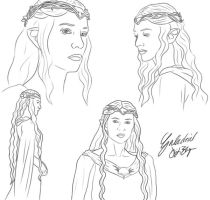 Galadriel Lady of Lorien by DennisB-Art
