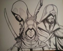 Assassin's Creed (INK DRAWING) by JustinEugene