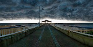 Redcliffe jetty panorama by gorkath