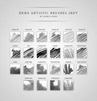 Hero Artistic Brushes Photoshop 2Rev by Robot-H3ro