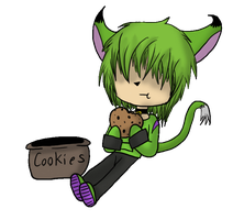 :AT: Rascal and the Cookie ANIMATED by GlassFeline