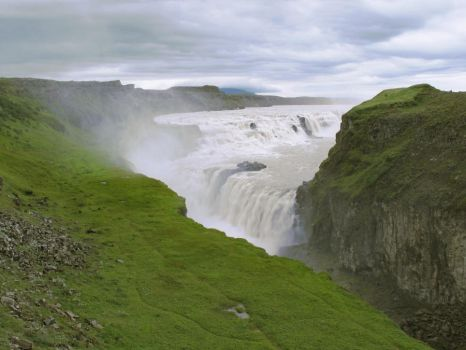 Falls of Iceland X - Gullfoss by Jaa-c
