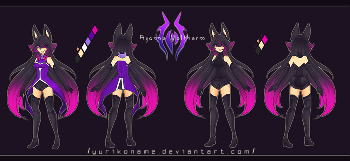 Character Reference - Ayanne by YURIKONAME