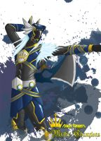 Power Rangers: Mythic Champions Blue Wolf by the-newKid