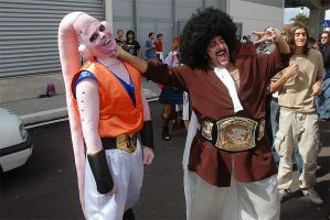Mr Satan and Majinbu by LarsVanDrake