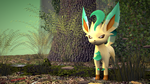 Leafeon in the Forest [3D MODEL] by TheModerator