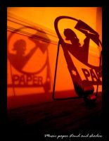 Music paper stand and shadow by lykesorad