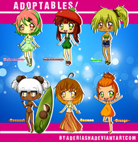 Fruit gijinka Adoptables(close) by AderiAsha