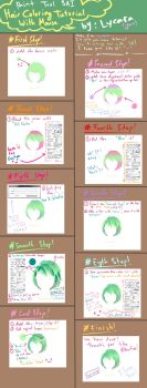 SAI hair coloring with mouse by lycara by Lycara-yuu