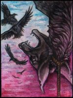 ACEO Reversed hanged man by Canis-Infernalis