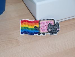 Nyancat Hair Barrette by eevilkat