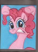 Pinkie Pie 6x10 inch acrylic on canvas portrait by Pwnyville