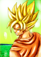 Mad Goku Painting by DIABLO123456