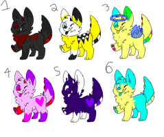 Vocloid monster pup adopts (OPEN) by Snows-Sweet-Adopts