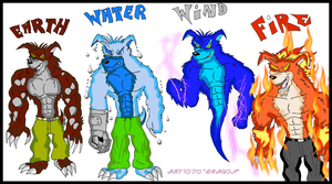 Crunch Bandicoot's Elements by NR3