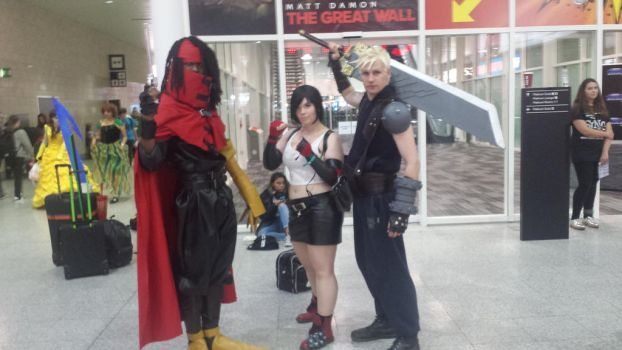FFVII: Vincent ,Tifa and Cloud by LupiViri