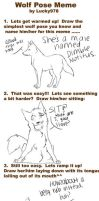 Wolf Pose Meme from *Lucky978 by ZacharyWolf