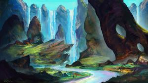 Valloroth Falls by Concept-Cube