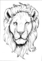 commissioned Lion Head by QuickSilverArtist