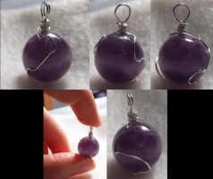 Silver-Wrapped Purple Materia by wickedorin