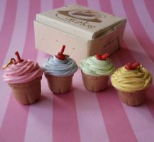 French Bakery Cupcake Set by FatallyFeminine