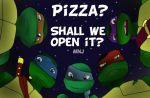 TMNT 2012 Pizza by Momo-no-Ji