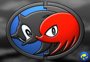 Sonic and Knuckles logo by rogferraz
