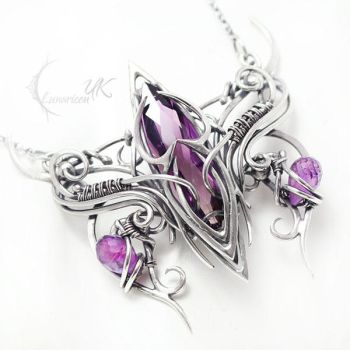 AMMETHERN Silver and Amethyst by LUNARIEEN