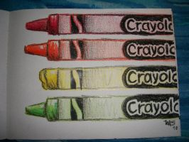 Crayons drawn with crayons by monicasycamore17