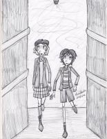 Corridors by queenfire