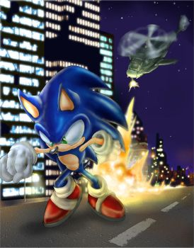 Sonic Under The Gun by CPC