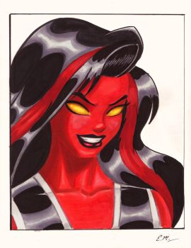Red She-Hulk Commission by em-scribbles