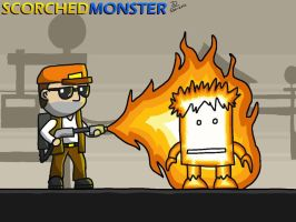 Scorched Monster by JOSHDILISI