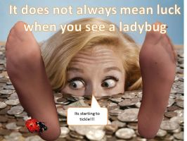 Ladybug tickle by pantyhosedrawer