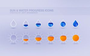 Sun and Water Progress Icons by fastball1945