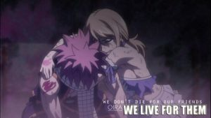Natsu Dragneel and Lucy Heartfilia: Friends by StellarCaster07