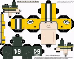 Jerry Kramer Packers Cubee by etchings13