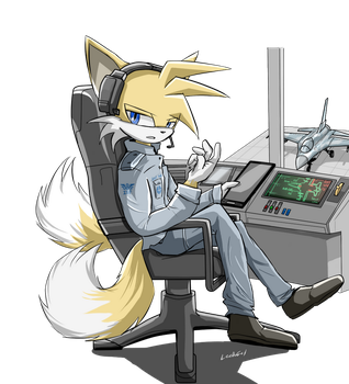 Tails working on... by oLEEDUEOLo