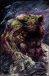 swampthing raw color pencil by orphanshadow