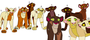 Lioness Breedables by Mossy-Flyer